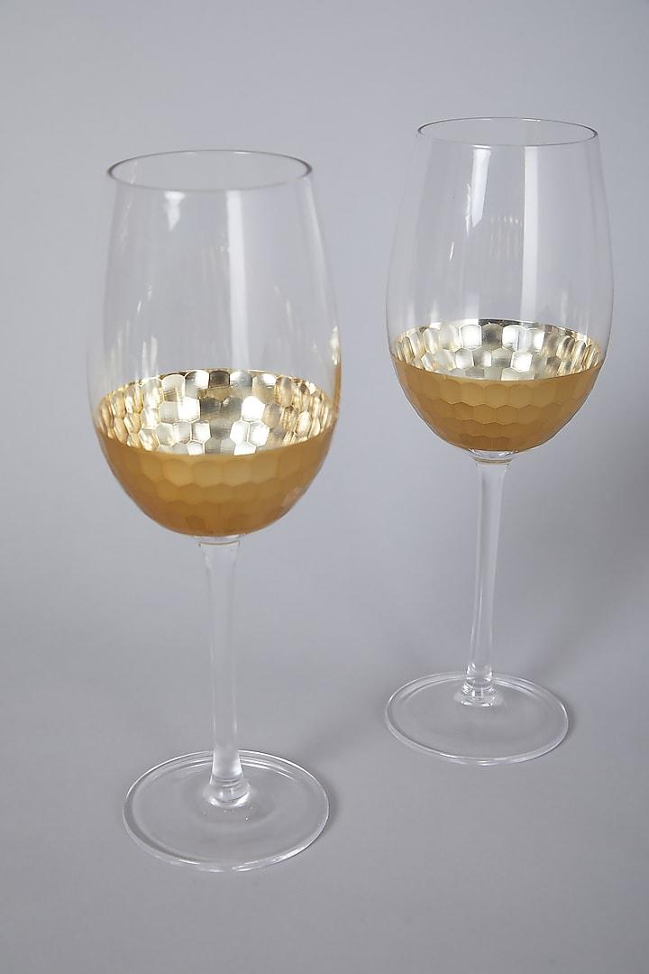 Gold Glasses (Set of 2) by Thoa
