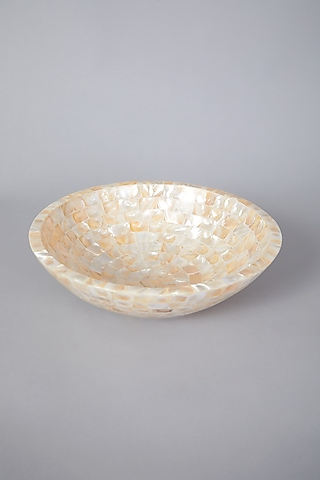 Cream Mother of Pearl Bowl by Thoa