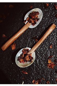 Silver Seashell & Neem Wood Spoons (Set of 6) by THOA