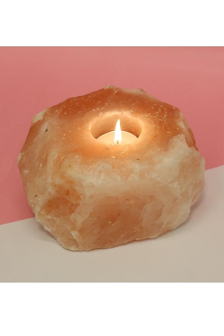 Pink Natural Rock Tea Light Holder by THOA