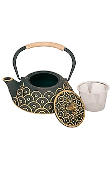 The Japanese Sage Tea Pot In Black by The House of Artisans