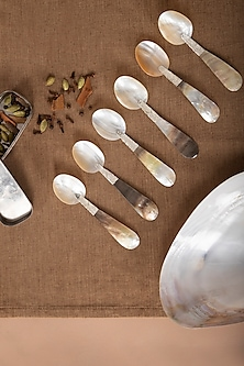 Mother of Pearl Spoon (Set of 6) by The House of Artisans