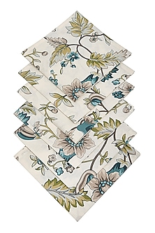 Beige Winter Napkin (Set Of 6) by The House of Artisans