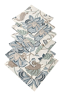 Floral Blue Autumn Napkin (Set Of 6) by The House of Artisans