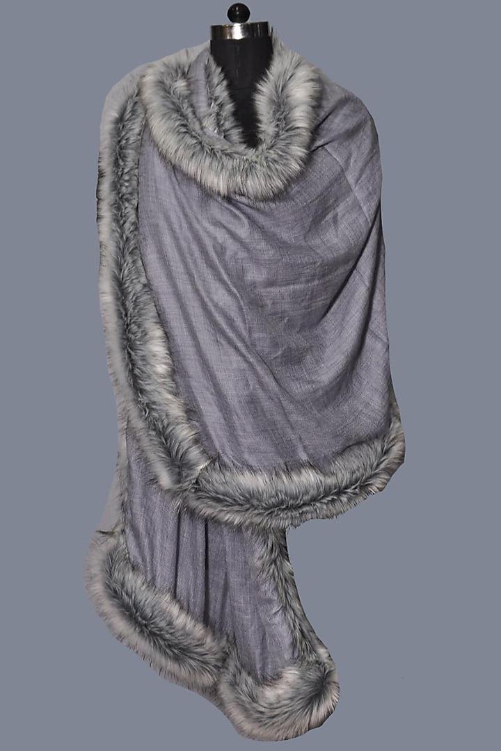 Grey Wool Stole by Dusala