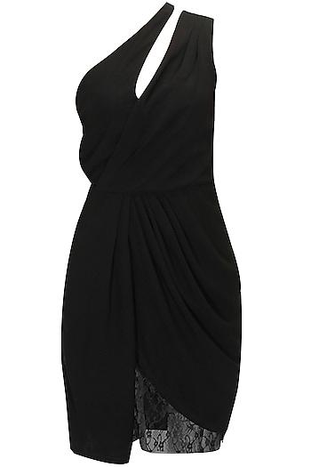 Black one-shoulder dress by Dauphine