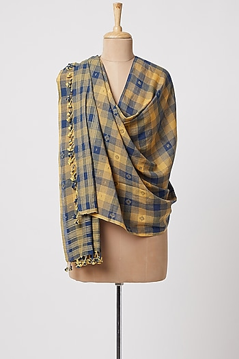 Mustard Handwoven Wrap Scarf by DVAA