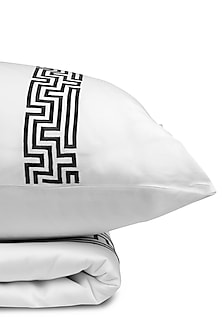 White Cotton Bedsheet Set by Veda Homes-READY TO SHIP GIFTS