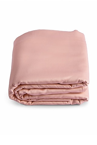 Coral Peach Durable Duvet Cover With Satin Finish by Veda Homes