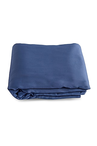 Moonlight Blue Durable Duvet Cover With Satin Finish by Veda Homes