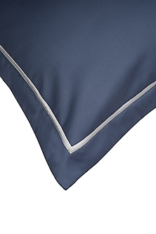 Moonlight Blue Cotton Bedsheet Set by Veda Homes
