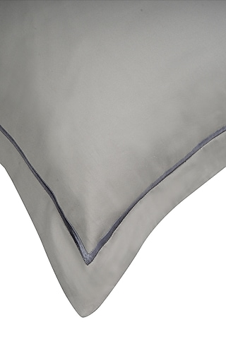 Modern Grey Cotton Bed Sheet Set by Veda Homes