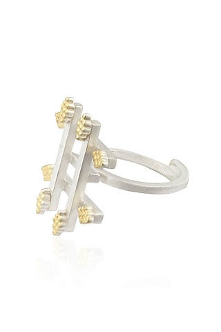 """Gold Plated Silver Finish Handcrafted """"Khunti"""" Ring by Dvibhumi"""