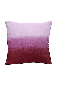 Multicolor Hand Woven & Tie Dye Ikat Cushion Cover With Filler by Vaishnavipratima
