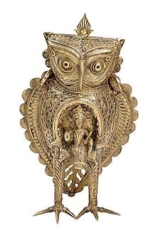 Bronze Dokhra Goddess Steed Brass Finish Showpiece by Vaishnavi Pratima