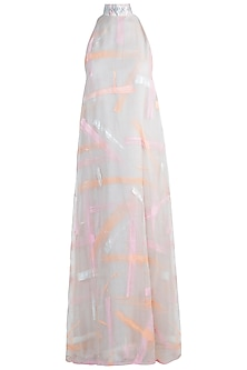 Blush pink maxi dress by Diya Rajvvir