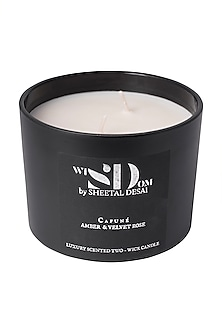 Amber & Velvet Rose Candle  by Wisdom By Sheetal Desai