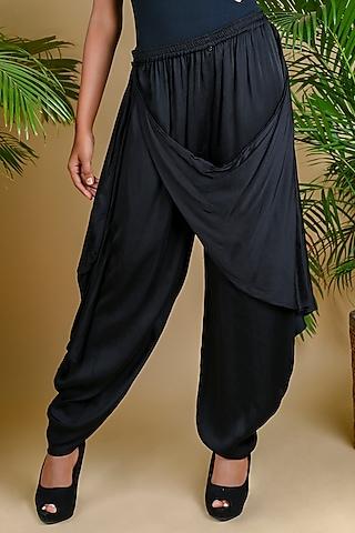 Black Dhoti Pants by Dyelogue