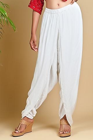 White Dhoti Pants by Dyelogue