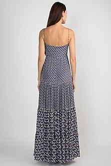 Blue Tiered Dress With Print by Ease