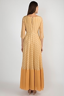 Yellow Printed Tie-Up Tunic by Ease