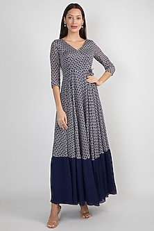 Blue Printed Tie-Up Tunic by Ease