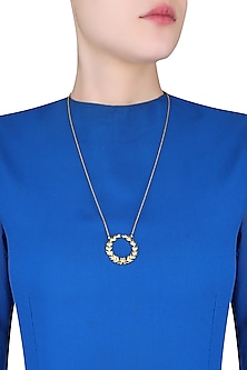 Gold Plated Wreath of Honour Necklace by Eina Ahluwalia