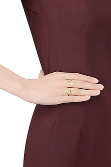 Gold Plated Warriors and Crusaders Ring by Eina Ahluwalia