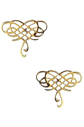 Gold Plated Infinite Love Earrings by Eina Ahluwalia