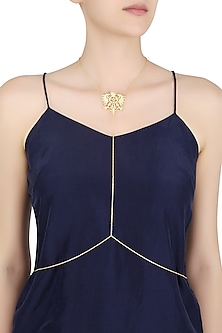 Gold Finish Fearless Body Chain by Eina Ahluwalia