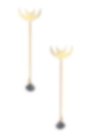 Gold Plated Hope Drop Earrings by Eina Ahluwalia