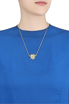 Gold Plated We Only Have Now Necklace by Eina Ahluwalia