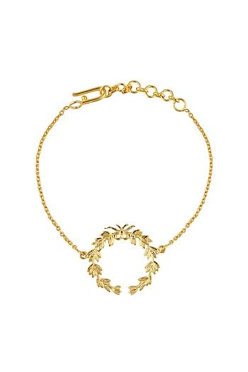 Gold Plated Wreath of Honour Bracelet by Eina Ahluwalia