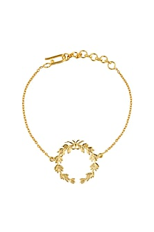Gold Plated Wreath of Honour Bracelet by Eina Ahluwalia