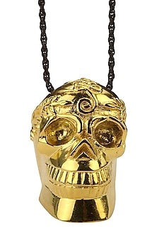 Gold Plated Memento Mori Necklace by Eina Ahluwalia