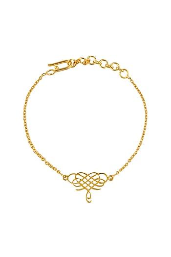 Gold Plated Infinite Love Bracelet by Eina Ahluwalia