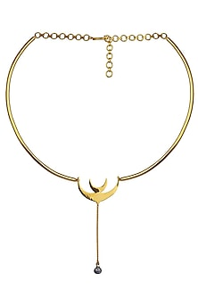 Gold Plated Hope Choker by Eina Ahluwalia