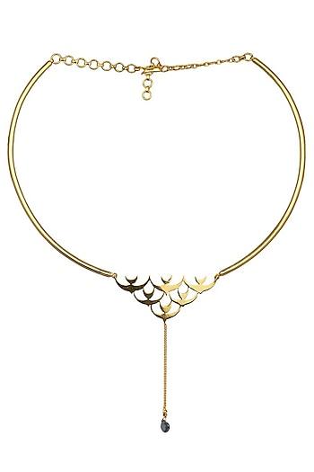 Gold Plated Triumph of Peace Choker by Eina Ahluwalia