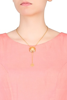 Lotus Fractal Mini Lariat by Eina Ahluwalia