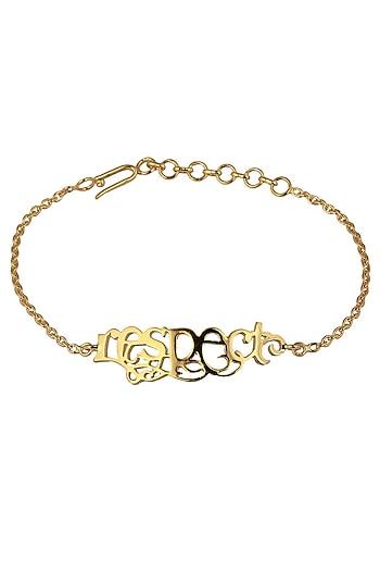 Respect Bracelet by Eina Ahluwalia