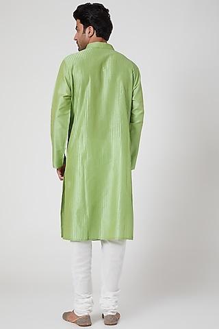 Lime Green Kurta Set by Ekam by Manish Gupta