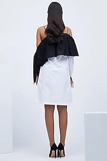 Black & White Frilled Dress by Echo