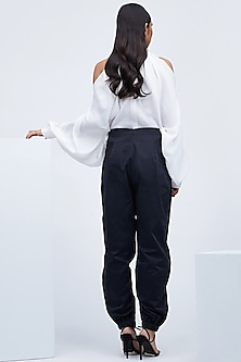 White Top With Gathered Sleeves by Echo
