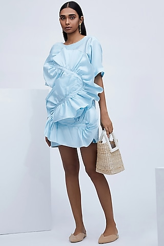 Sky Blue Taffeta Dress by Echo
