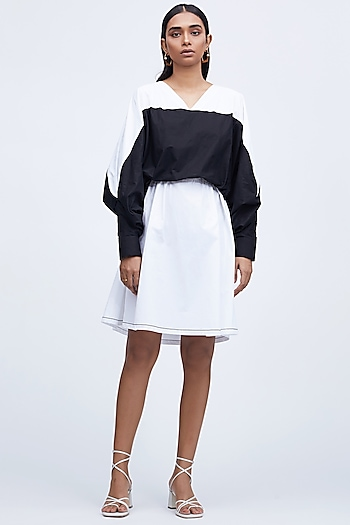 Black & White Cotton Dress by Echo