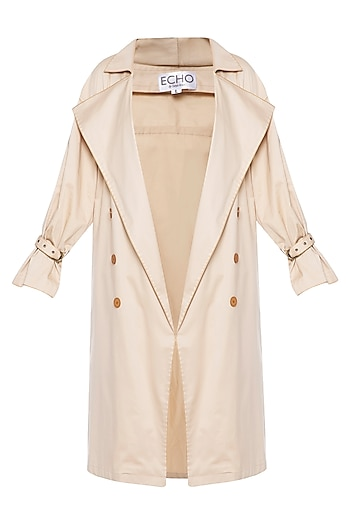 Beige trench coat by ECHO
