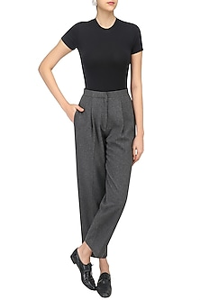 Grey Tapered Trousers by Echo