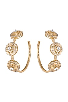 Gold Plated Cz Stone Earrings by AETEE-EDITOR'S PICK