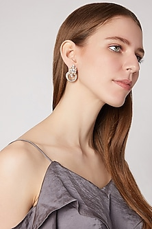 Gold Plated Brass Earrings by AETEE