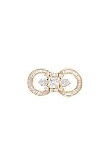 Gold Finish Cz Ring by AETEE